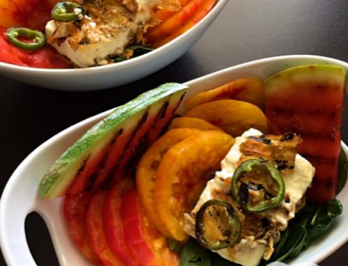 #10 Tomaten-Melonen-Salat mit Babyspinat