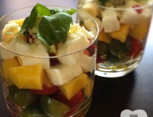 #14 Tomatensalat mit Mango und Büffelmozzarella