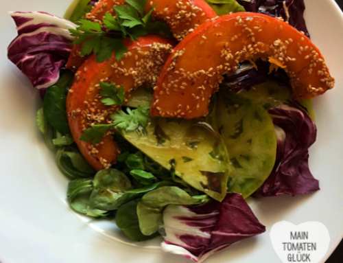 #15 Herbstlicher Tomatensalat mit Kürbis